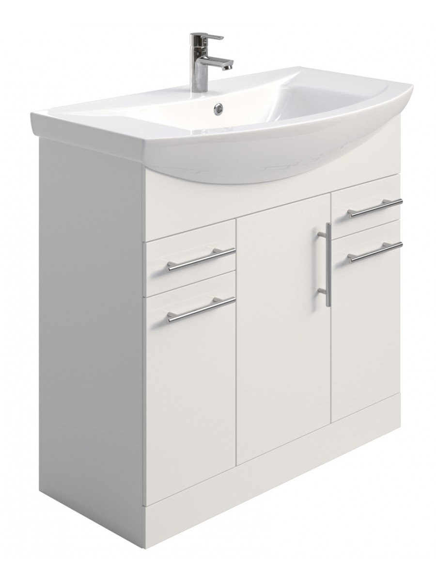 Blanco 85cm Vanity Unit - PRICE INCLUDES UNIT, BASIN and TAP