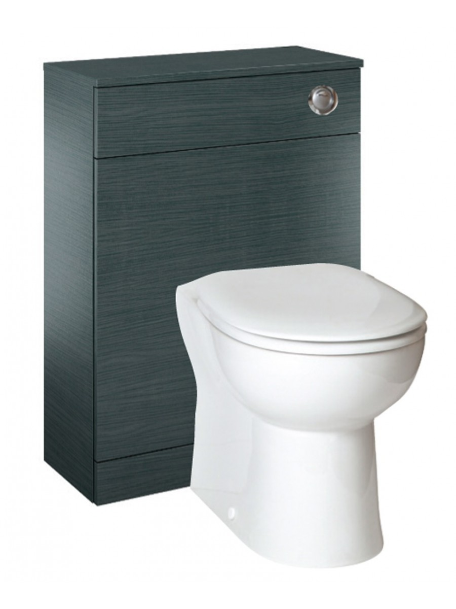 Paola Grey  Back to Wall Slimline Unit with Concealed Cistern