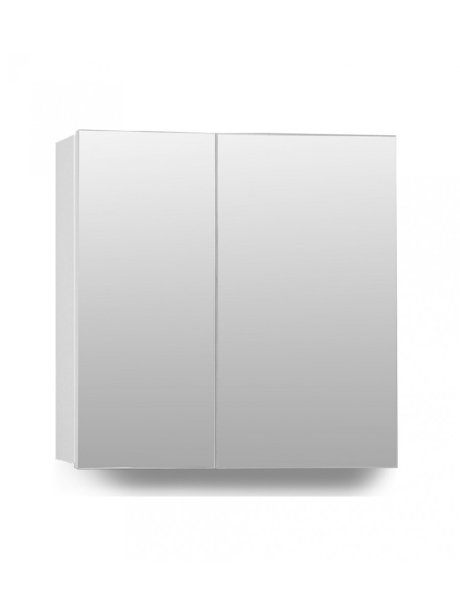 Hampstead 2 Door Mirror Cabinet 70cm White