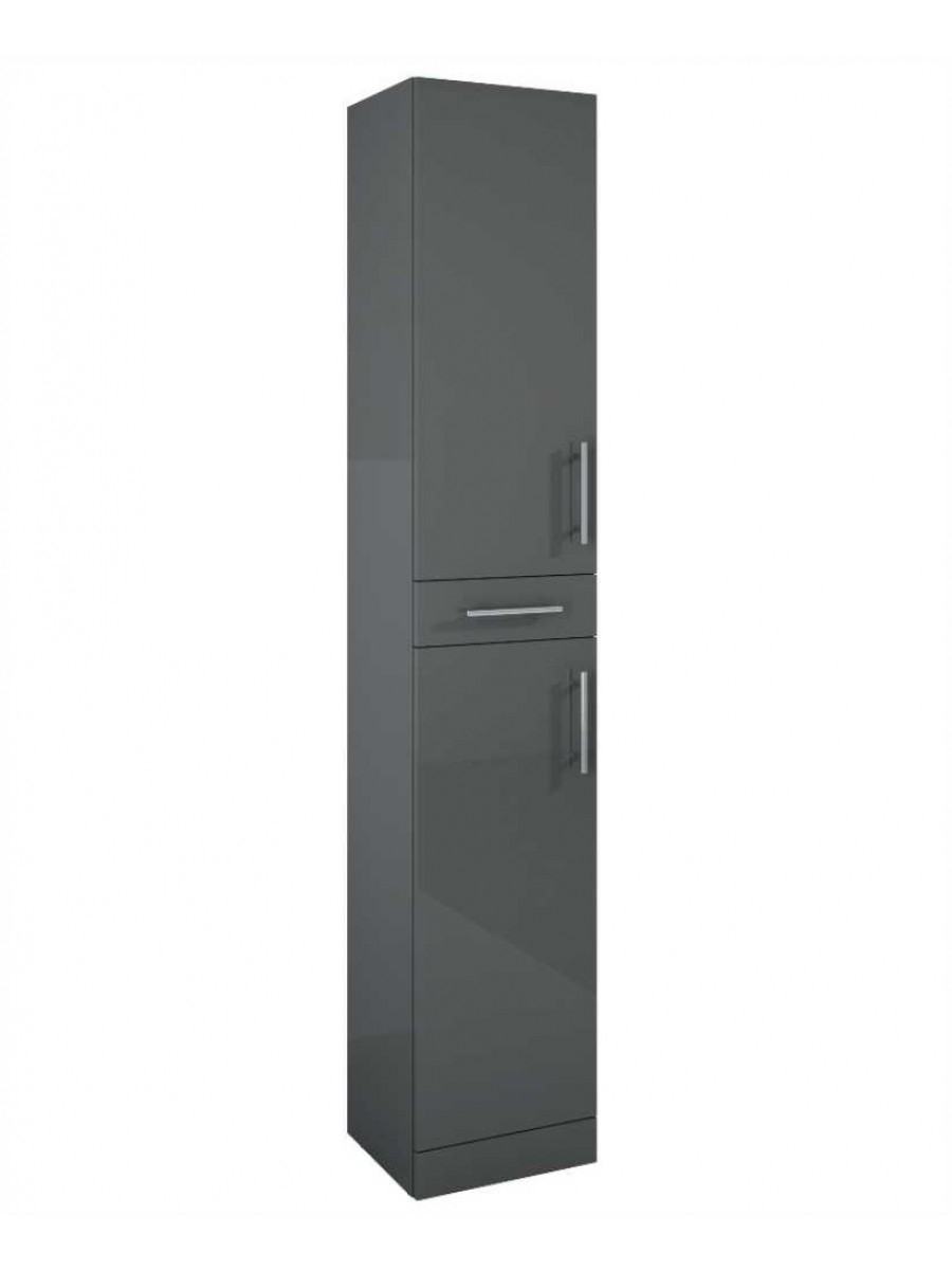Blanco Gloss Grey 350mm Tall Storage Unit -