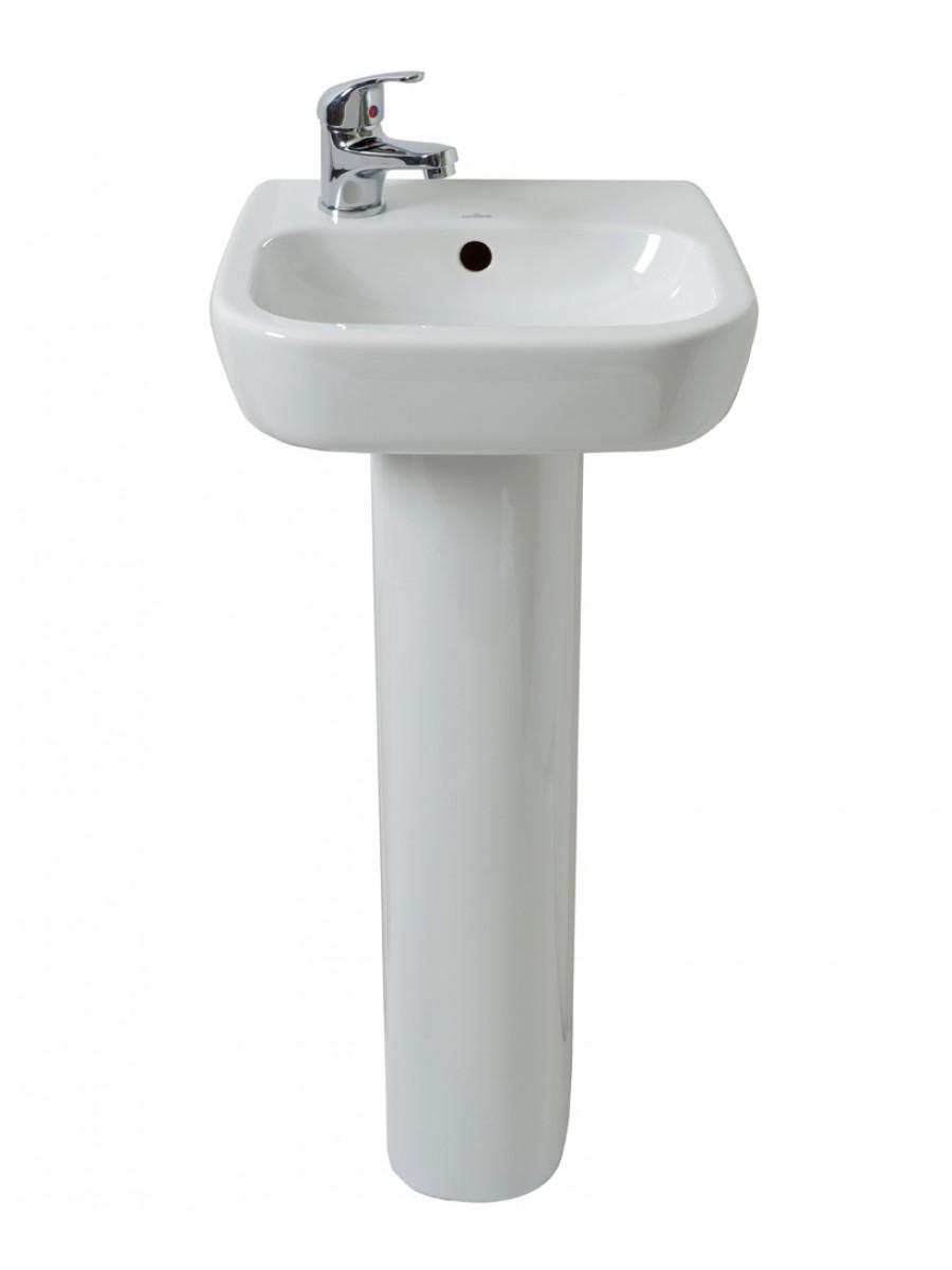 Farli 40cm Cloakroom Basin LH & Pedestal