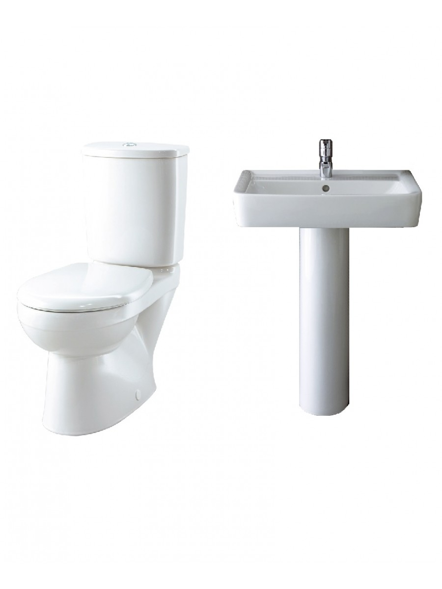 Twyford Galerie Plan Toilet and Wash Basin Set
