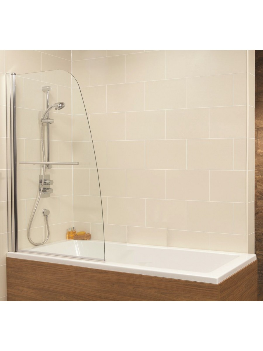 Duo Straight Single Ended 1700x750mm Bath and Shower Screen with 6mm glass - Single Panel