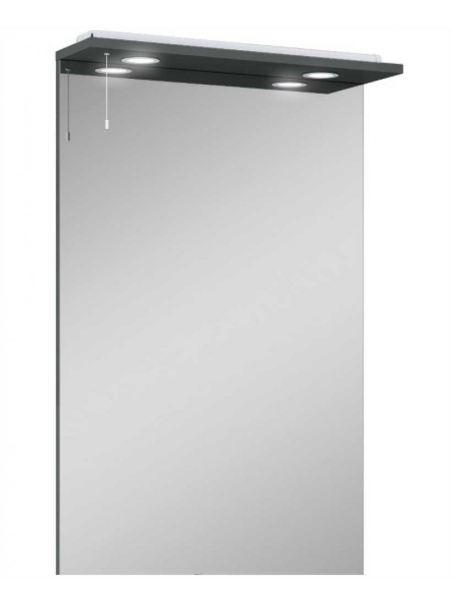 Blanco Gloss Grey 60 Mirror with LED Light & Pullcord