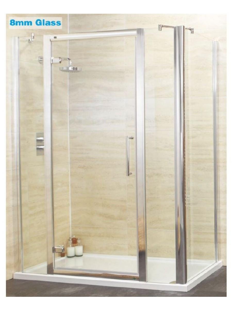 Double Hinged Shower Door : Shower enclosures trays rival mm hinge door