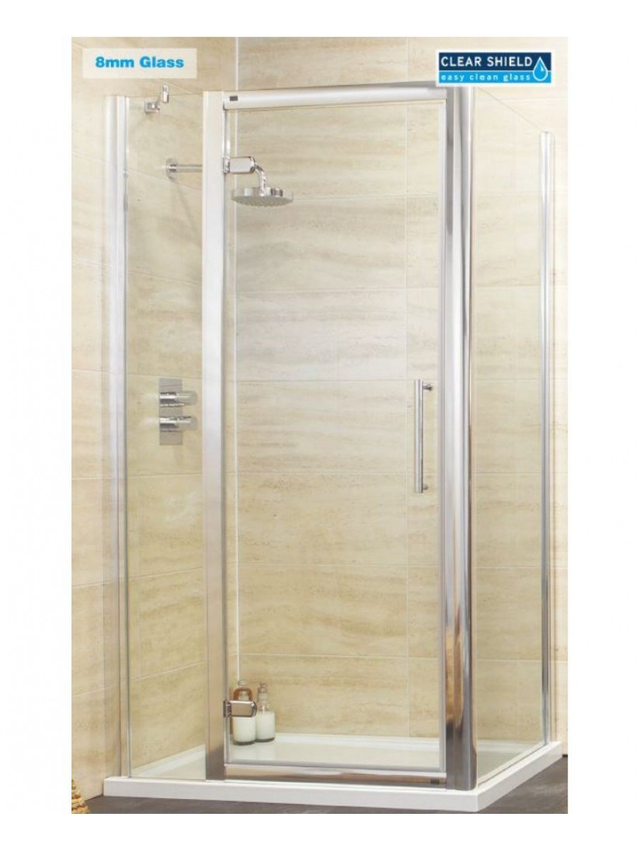 Rival 8mm 1100 Hinge Shower Door with Single Infill Panel & 760 mm Side Panel
