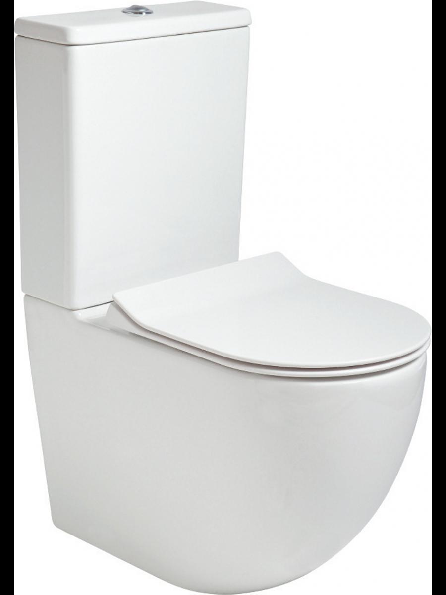 Tara Fully Shrouded RIMLESS Toilet and Slim Soft Close Seat