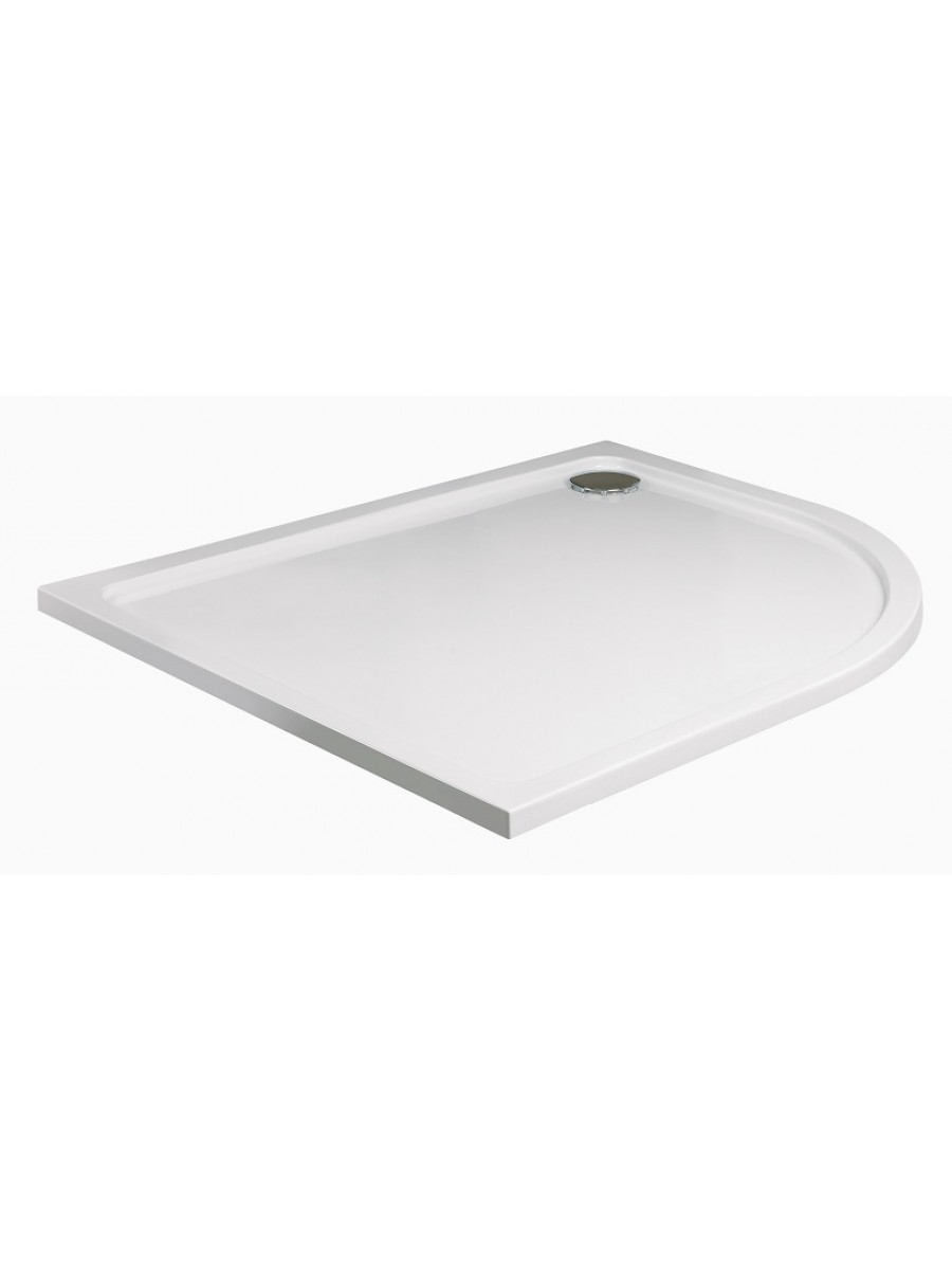Slimline 1000 x 800 Offset Quadrant Shower Tray RH