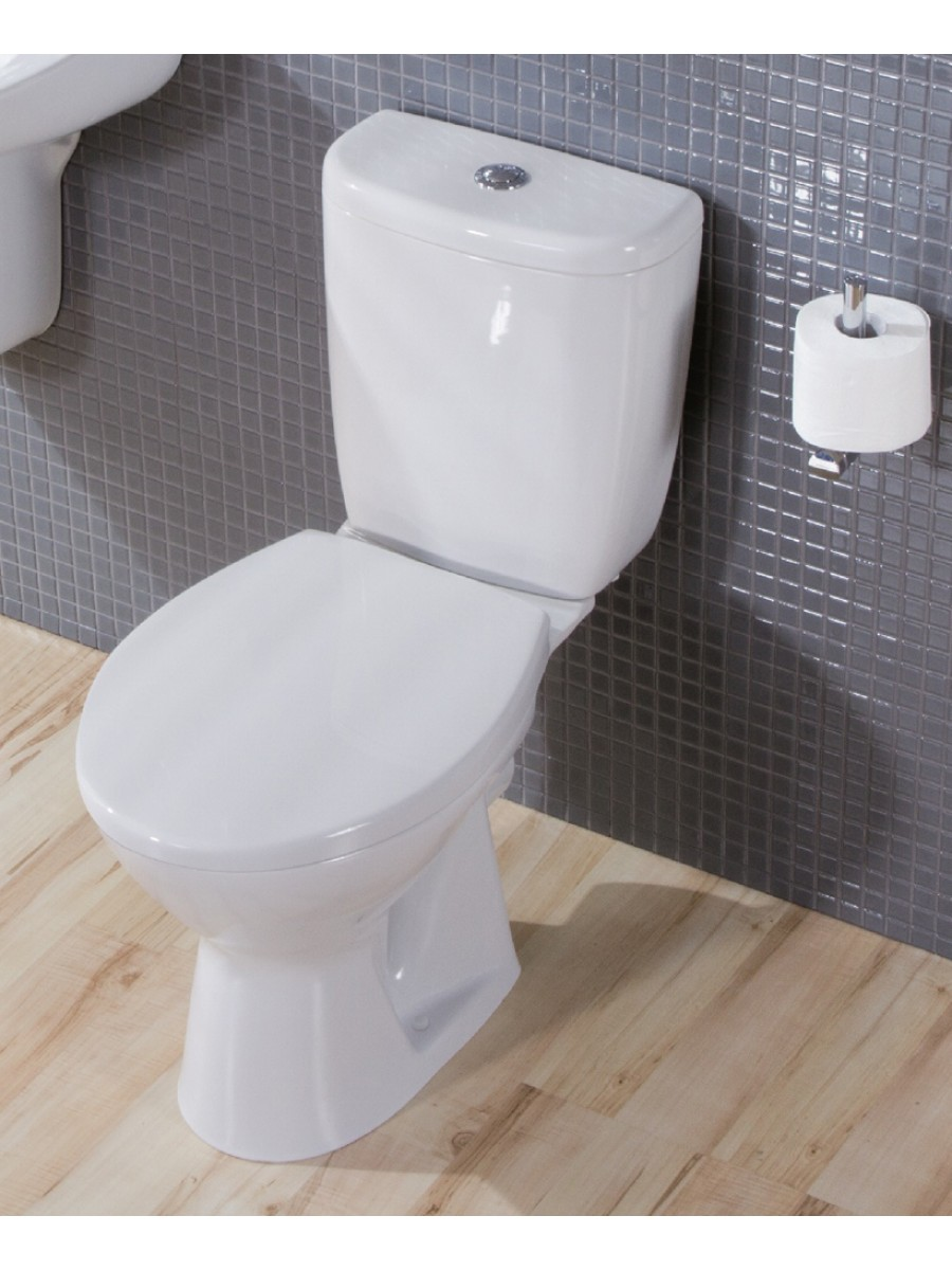 Modena Close Coupled Toilet and Seat with ECO flush