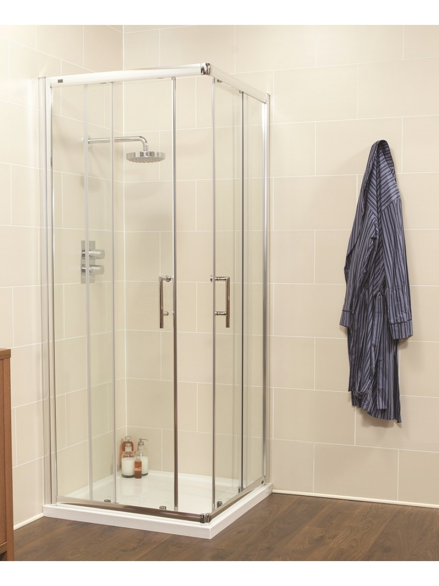 Kyra Range 760 Corner Entry Shower Enclosure - Adjustment 715-740mm
