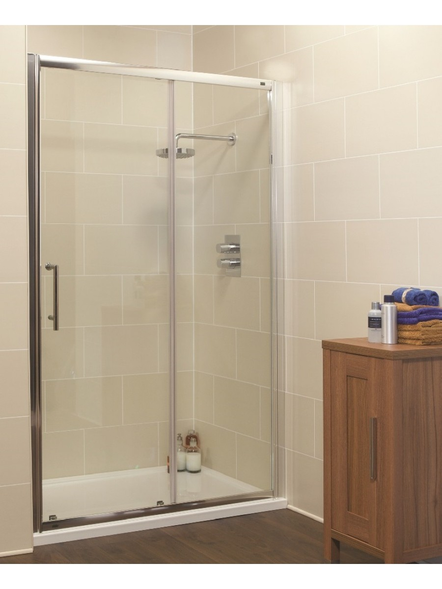 Kyra Range 1600mm Sliding Shower Door - Adjustment 1560 -1620mm