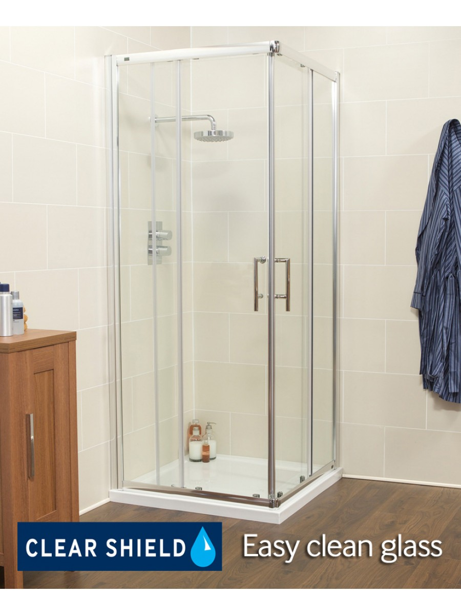 Kyra Range 900 Corner Entry Shower Enclosure - Adjustment 855 -880mm