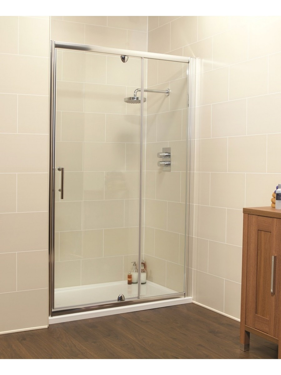 Kyra Range 1200 Pivot Shower Door & Inline Shower Enclosure - Adjustment 1160-1220mm - *Special Offer