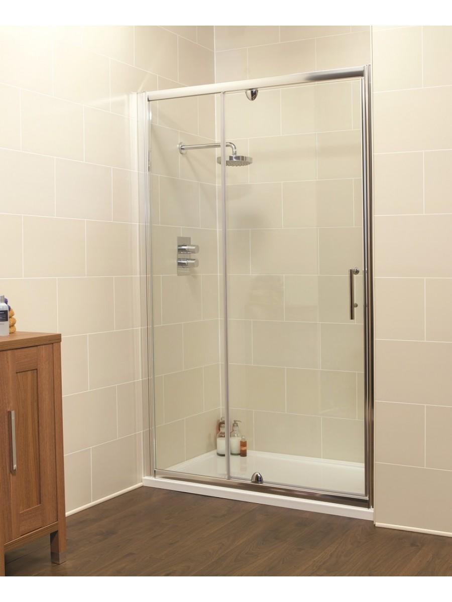 Kyra Range 1000 Pivot Shower Door & Inline Shower Enclosure - Adjustment 960-1020mm