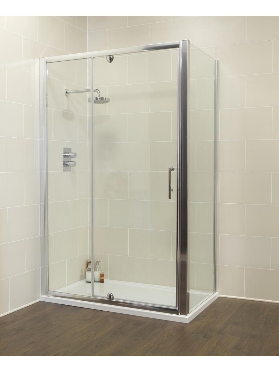 Kyra 1200 x 700mm  Pivot & Inline Shower Door