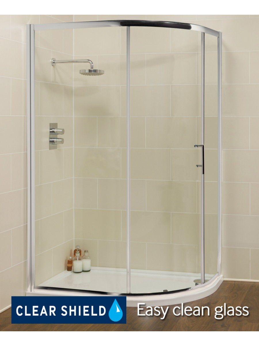 Kyra Range 1200 mm x 800 mm Offset Quadrant Single Door Shower Enclosure