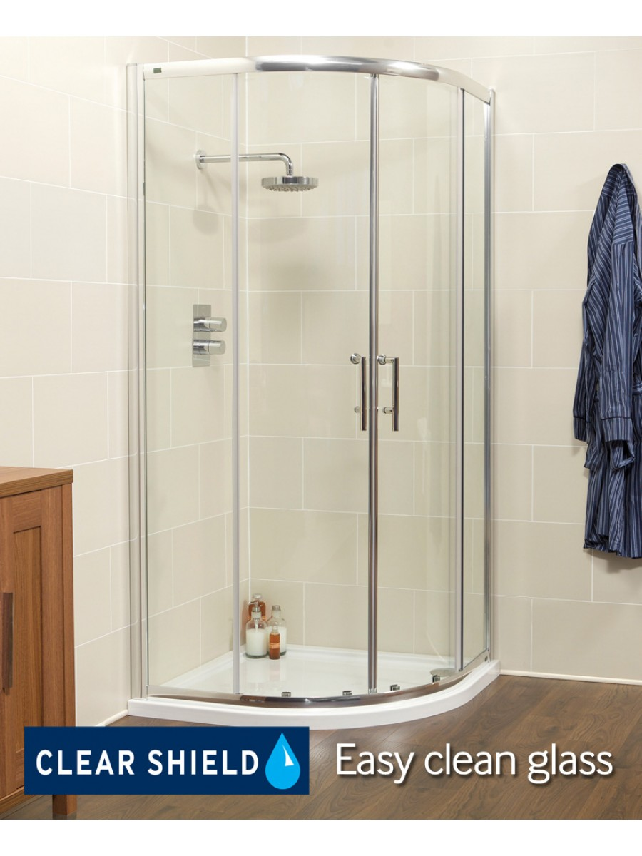 Kyra Range 900 Two Door Quadrant Shower Enclosure - Adjustment 855mm-880mm