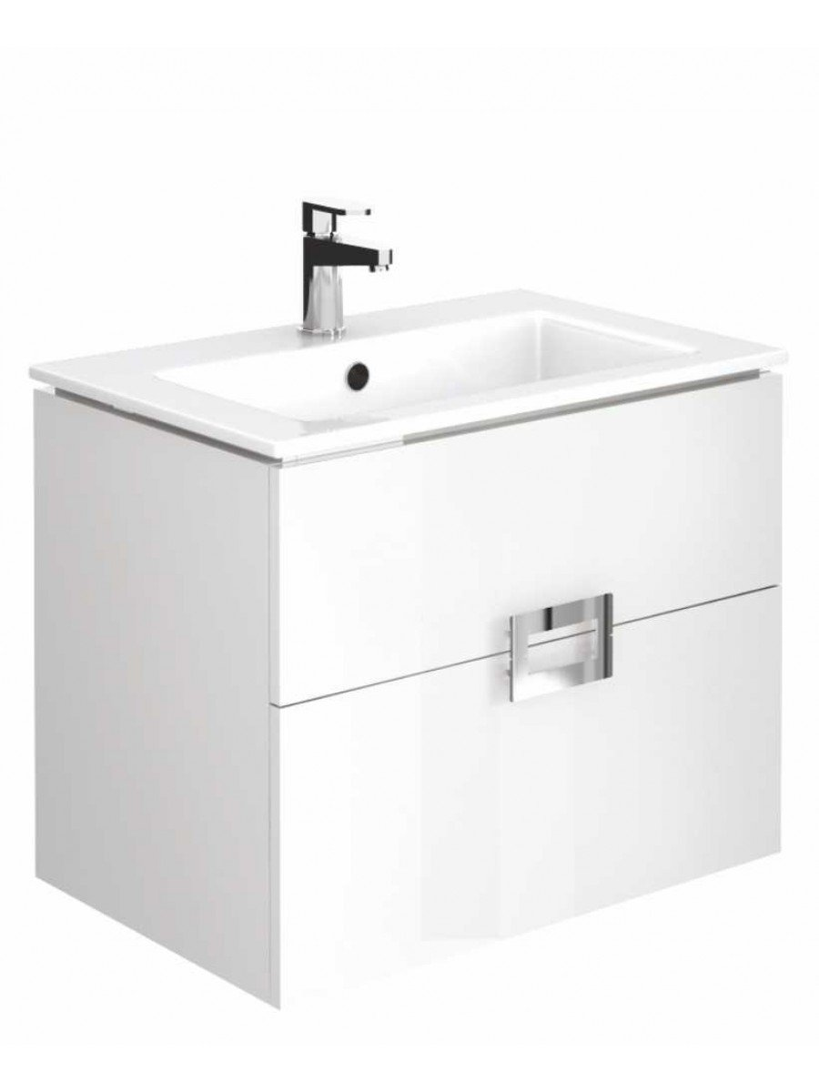 Ava Gloss White 55 cm Wall Hung Vanity Unit and Basin - ** 60% Off