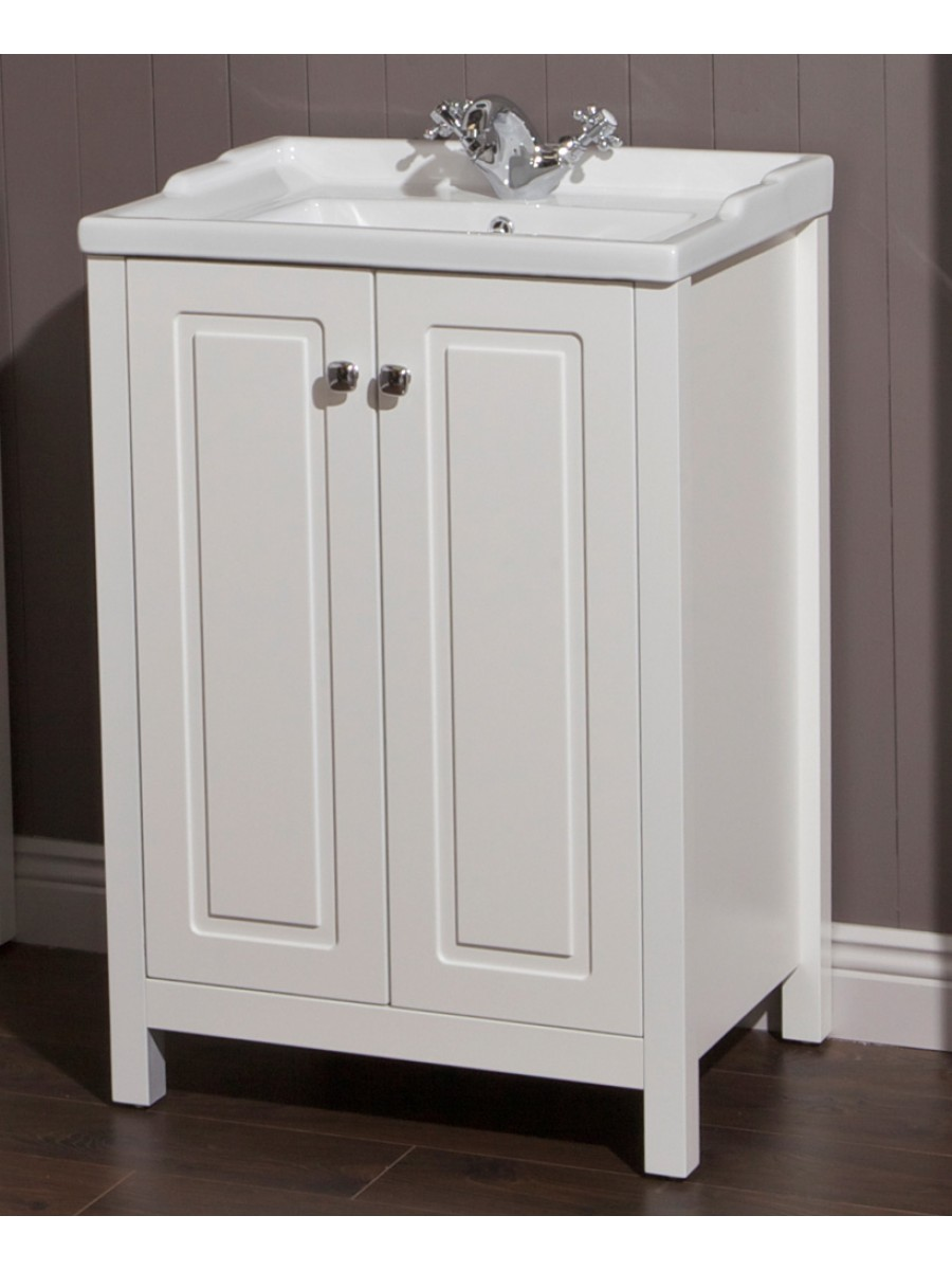 Floor Standing Vanity Units Ashbury Traditional 60 Chalk ...