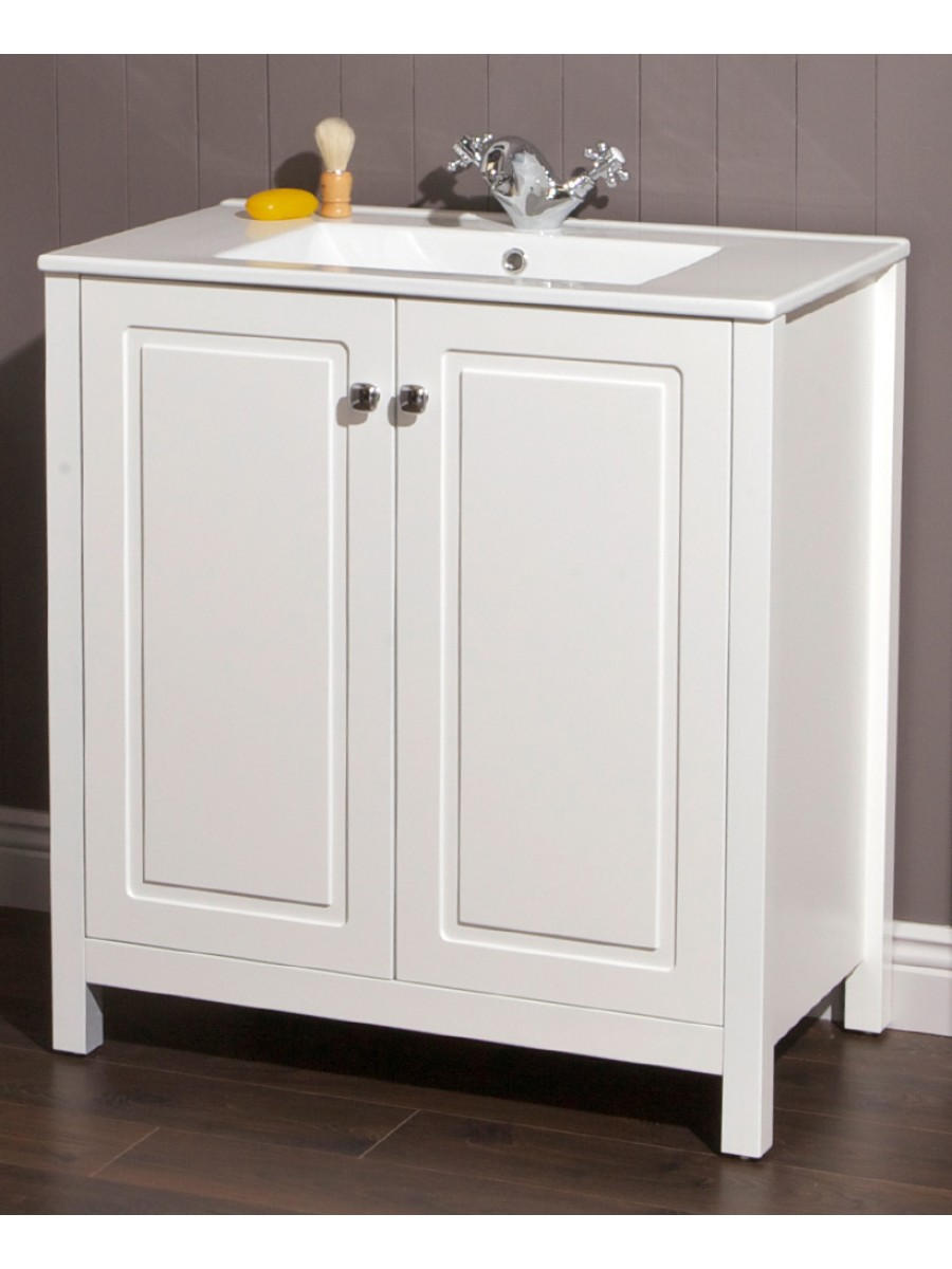 Ashbury Traditional 80 Chalk White Vanity Unit & Totano Basin