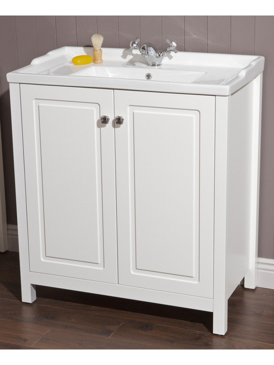 Floor Standing Vanity Units Ashbury Traditional 80 Chalk White Vanity Unit Amp Vitaria Basin