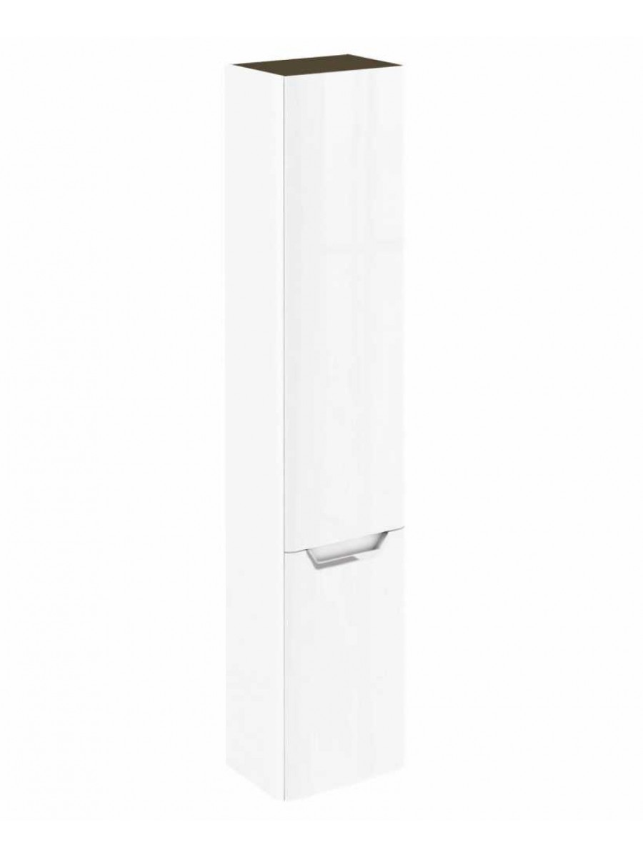 Metz Gloss White 35 cm Wall Column - Left Hand Hinge