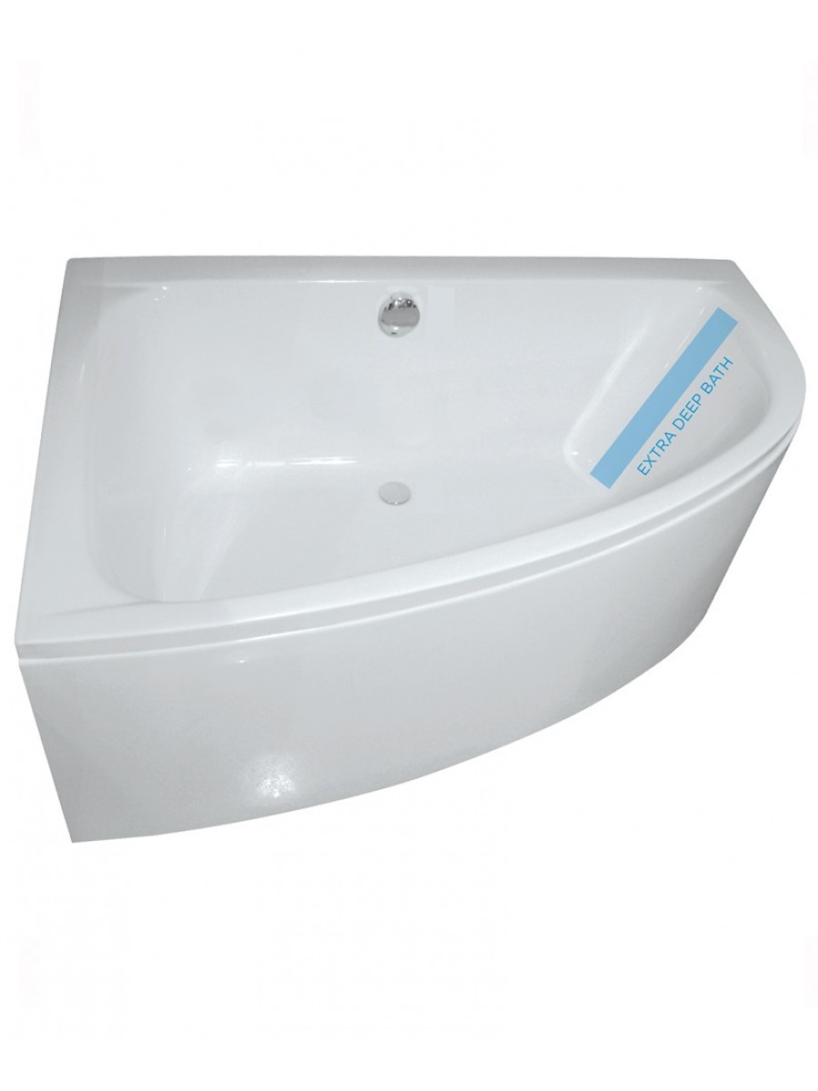 Mayfair 1500 x 1000mm Offset Corner Bath Left Hand INCLUDES Bath Panel