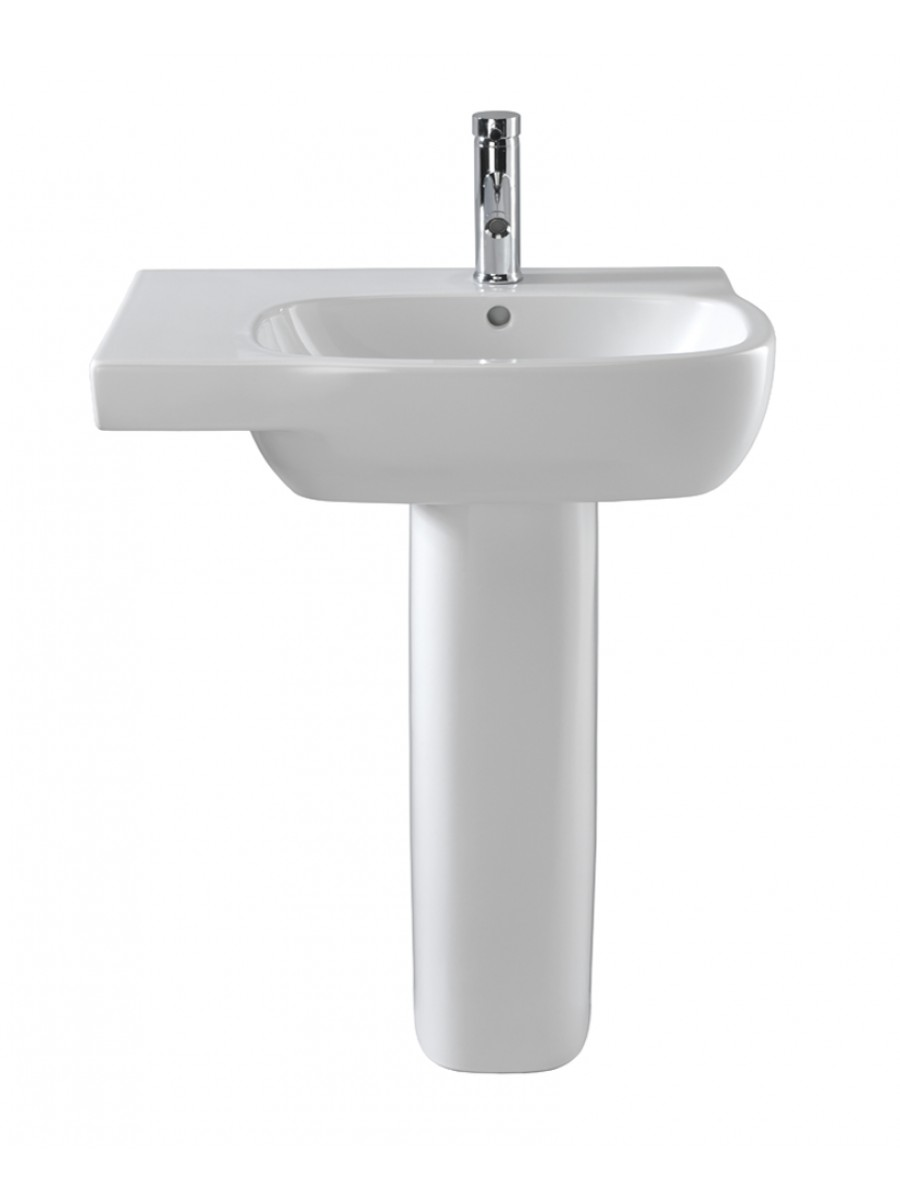 Twyford Moda Basin 65cm with Shelf LH & Pedestal