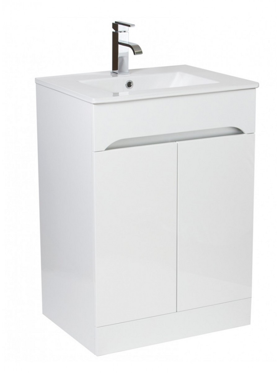 Merida 60cm White Vanity Unit , Basin & Tap