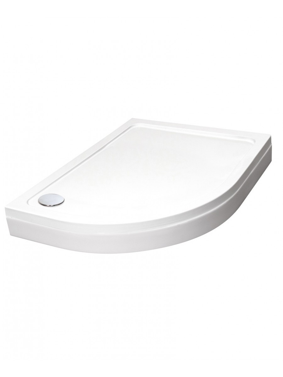 Easy Plumb Slimline 1000  x  800 Offset Quadrant Tray Left Hand