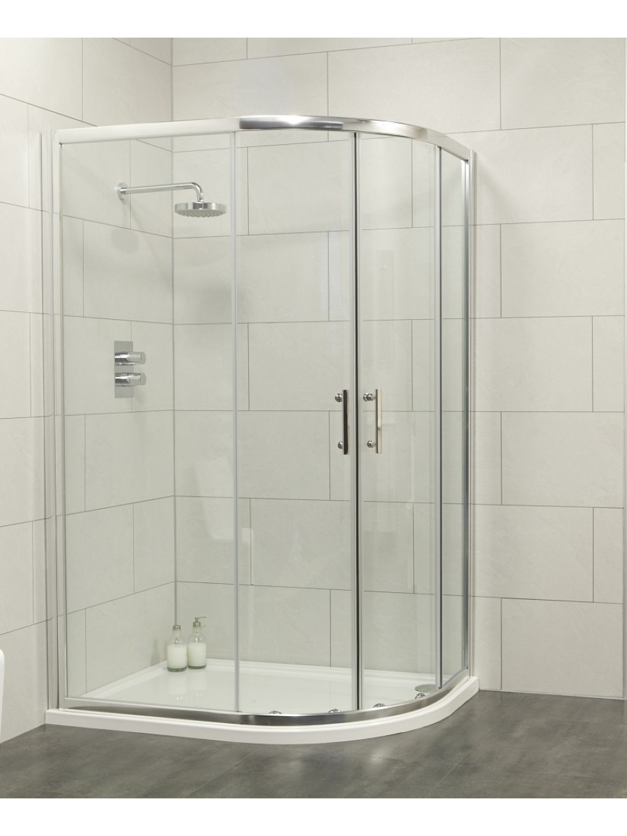Cello 1000x800 Offset Quadrant Shower Enclosure -Adjustment 965-990mm + 765 - 790mm **FURTHER REDUCTIONS