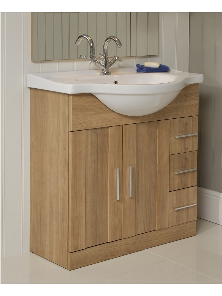 Cordoba Oak 75cm Vanity Unit & Basin