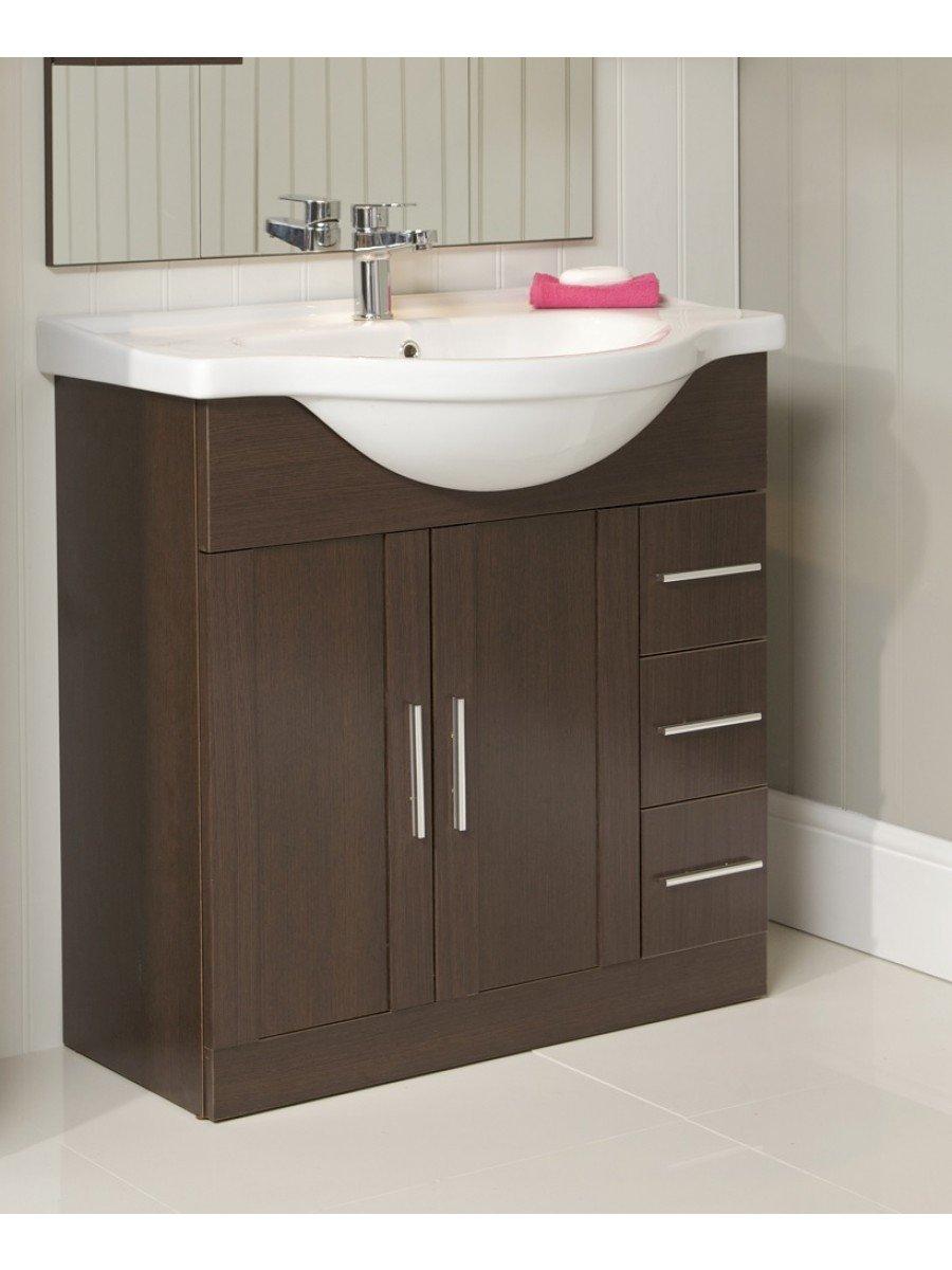Floor Standing Vanity Units Cordoba Wenge 85cm Vanity Unit & Basin
