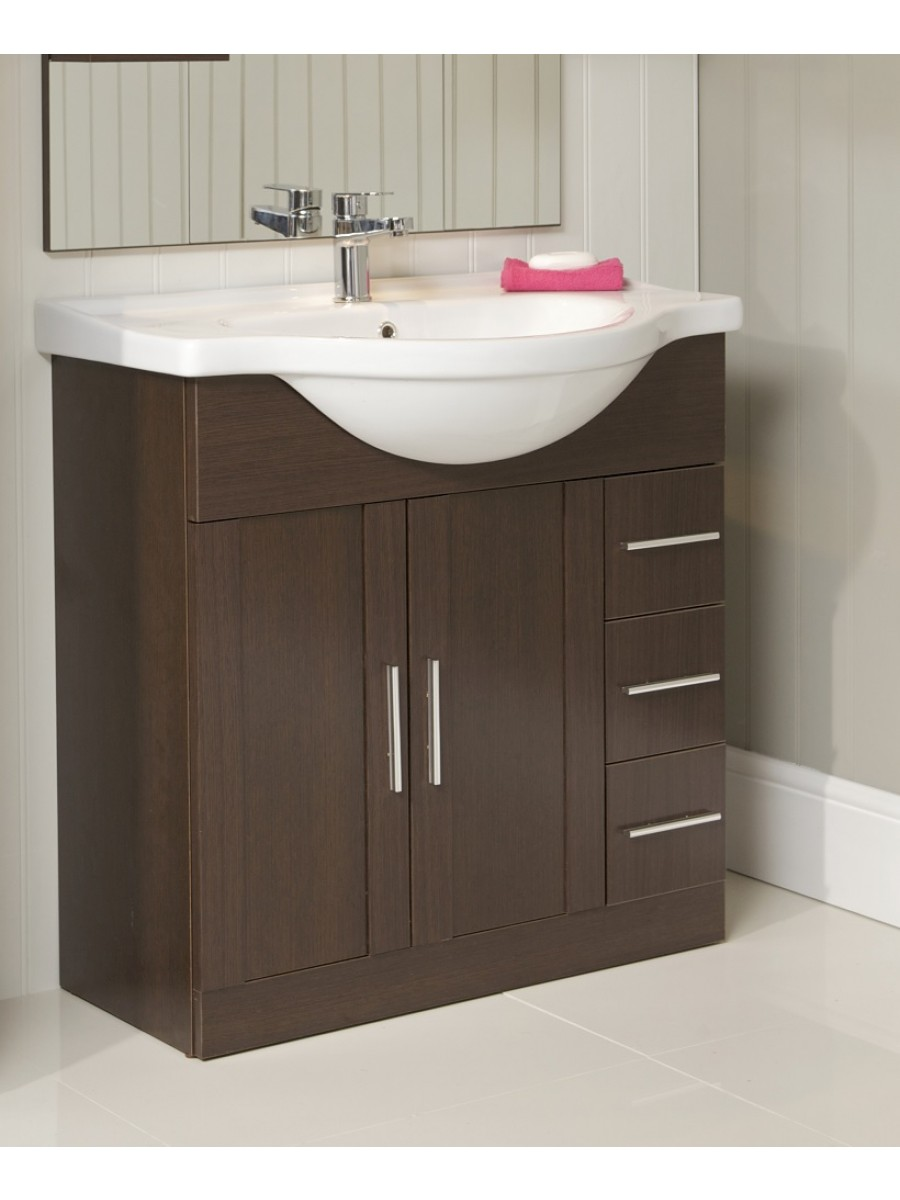 Wenge bathroom cabinet for Bathroom cabinets 80cm wide