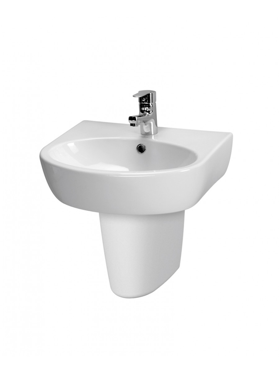Prato Basin 55cm & Semi Pedestal (1TH)