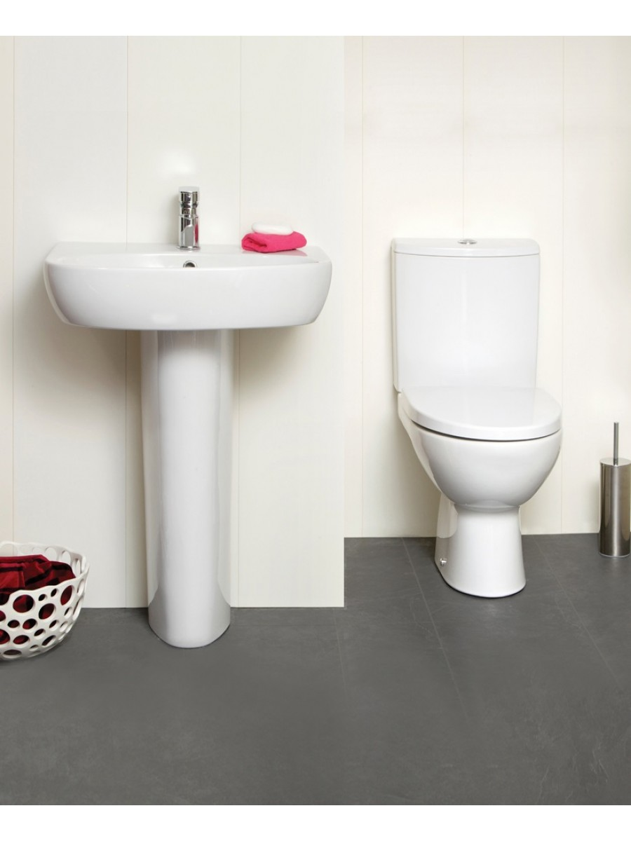 Prato Toilet and 55cm Wash Basin Set