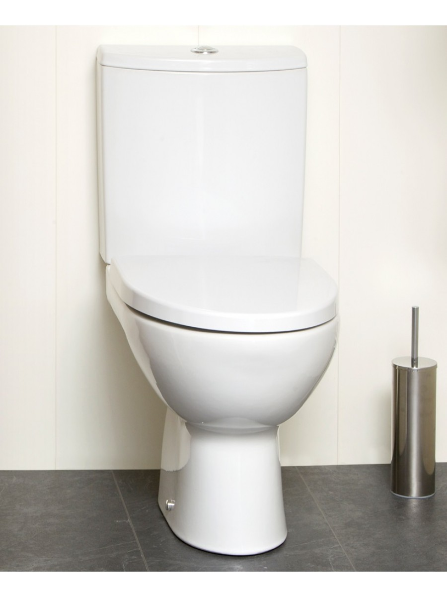 Prato Close Coupled Toilet & Soft Close Seat - Short Projection 615mm