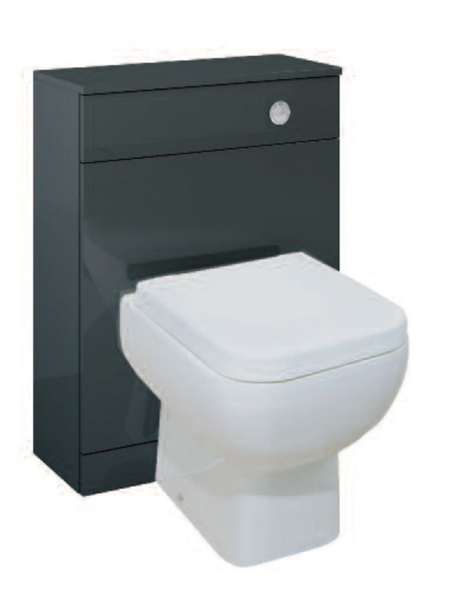 Paola Anthracite Back to Wall Slimline Unit with Concealed Cistern