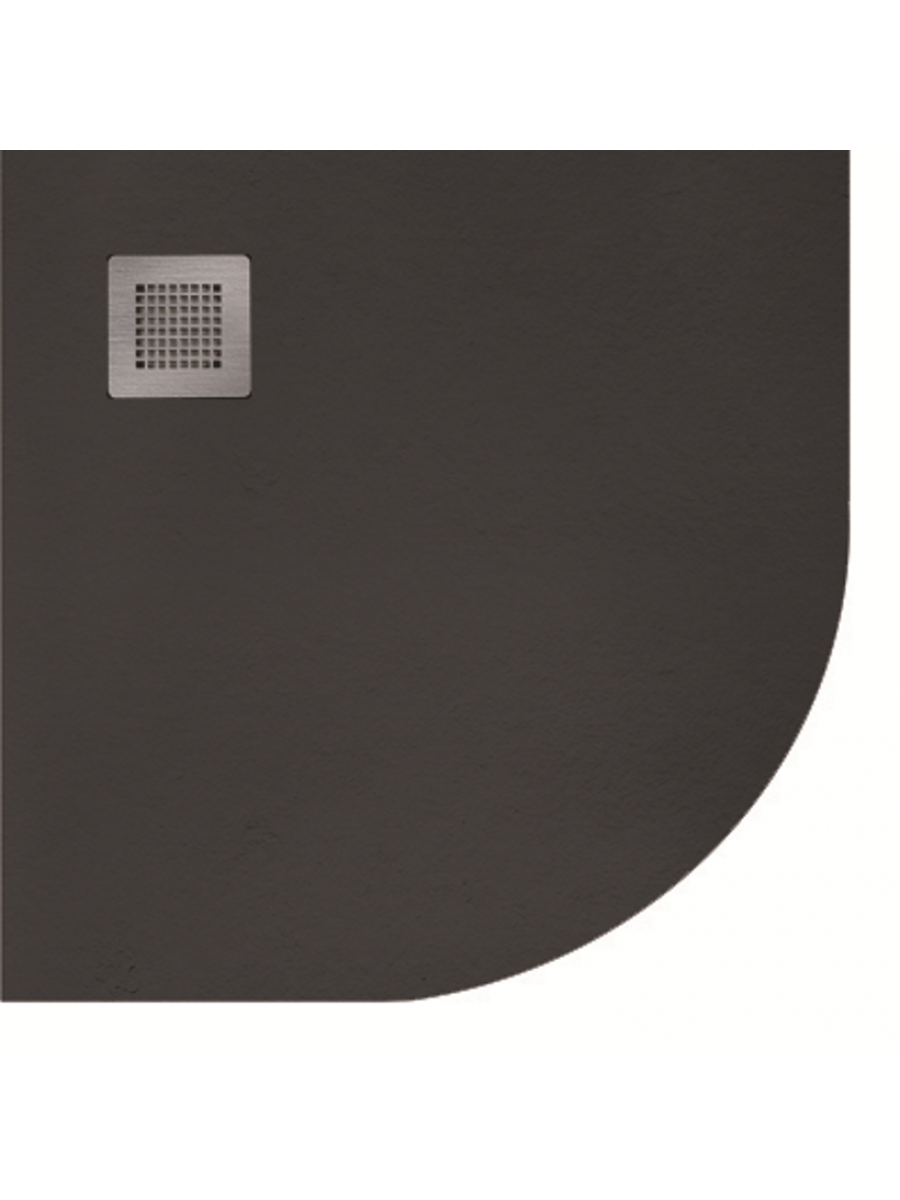 Slate 900 Quadrant  Shower Tray Black - With Free Shower Waste