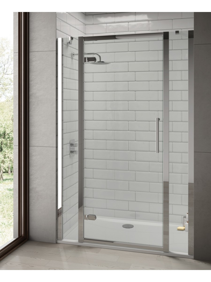 Rival 8mm 900 Hinge Shower Door - Adjustment 840 - 900 mm