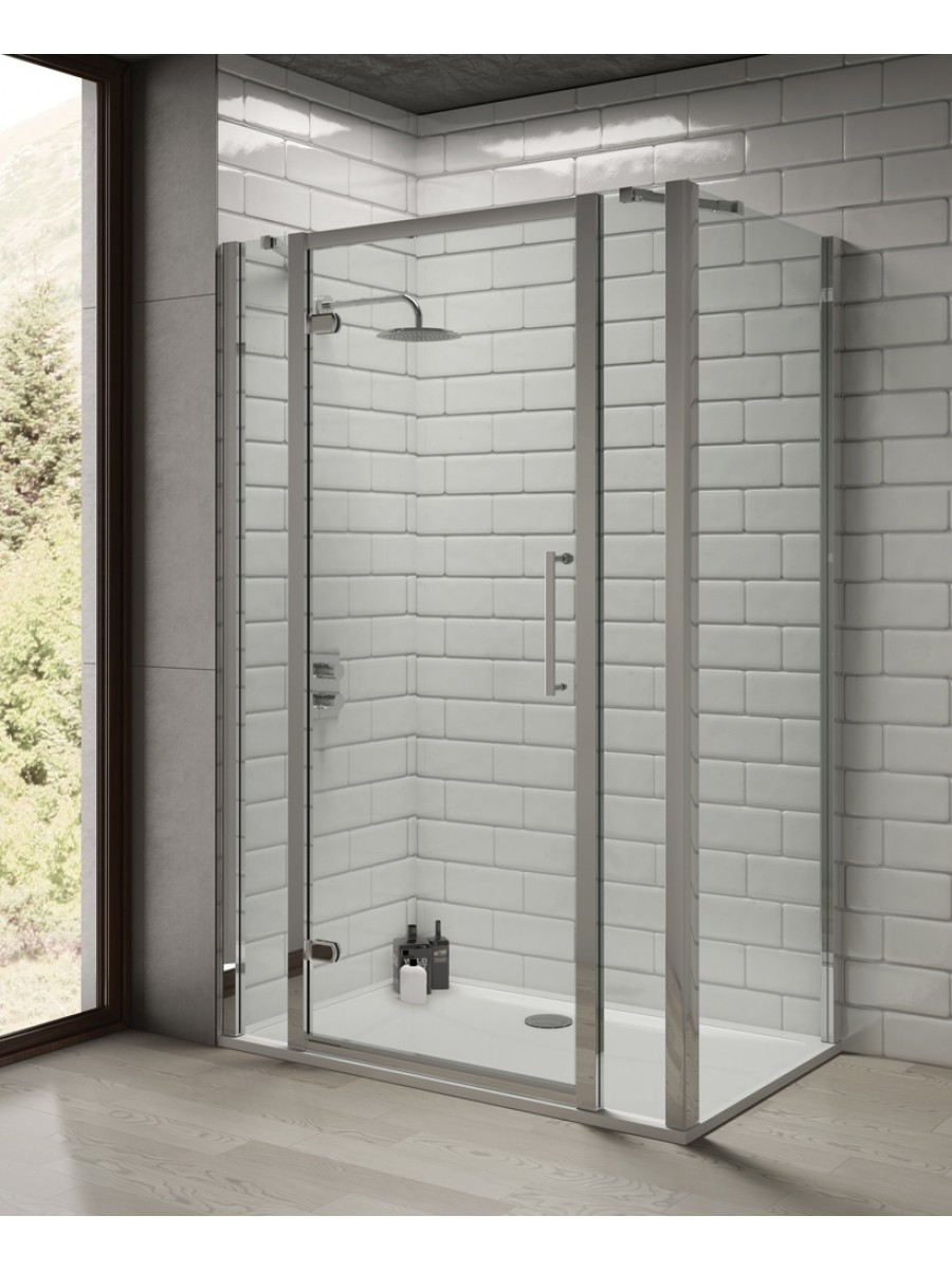 Rival 8mm 1300 Hinge Shower Door with Double Infill Panel & 1000 mm Side Panel