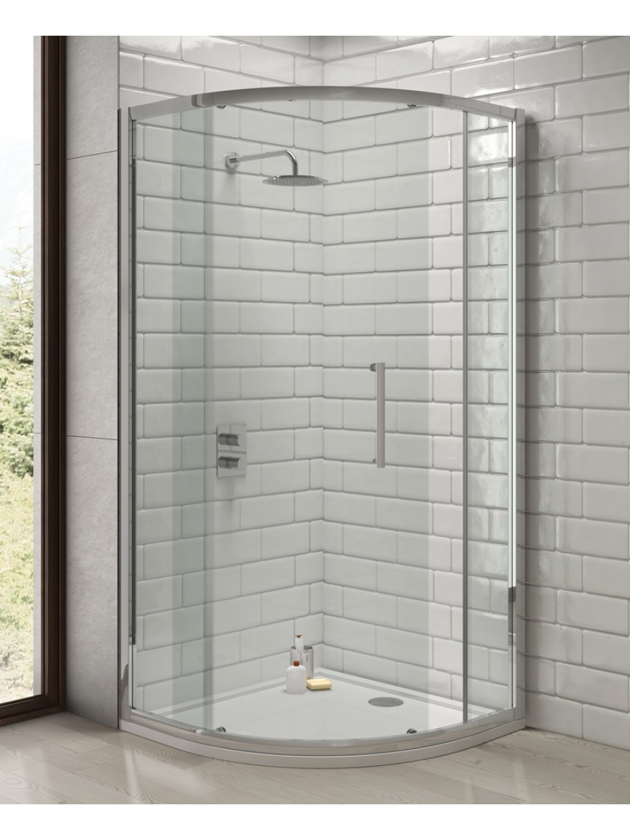 Rival 8mm 1200 x 800 Offset Quadrant Single Door Shower Enclosure