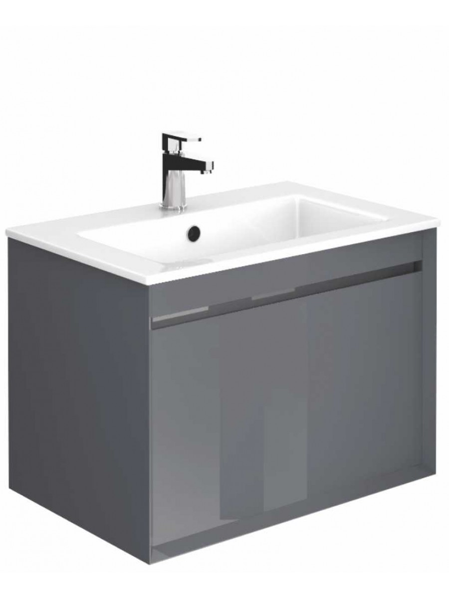 Regine Anthracite 65 cm Wall Hung Vanity Unit and Basin