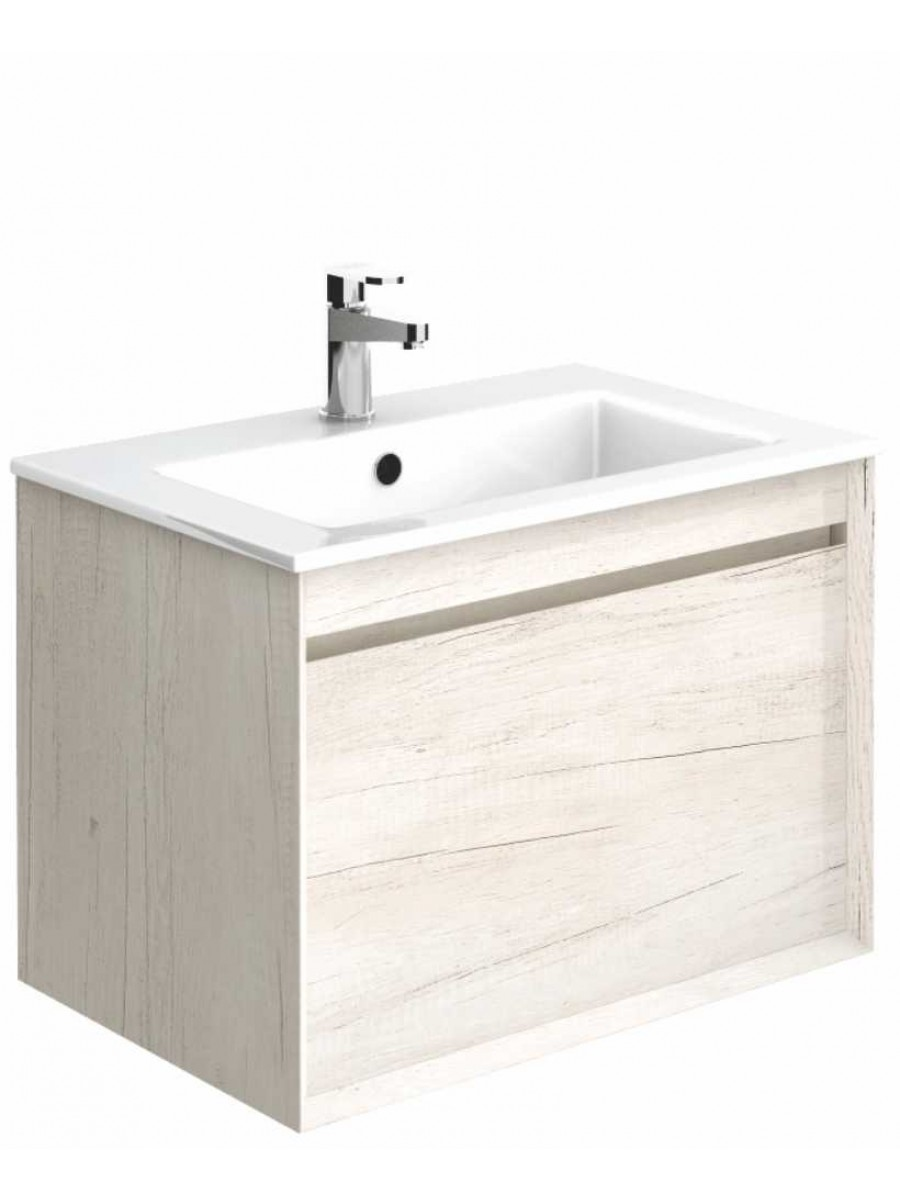 Regine Light Wood 55 cm Wall Hung Vanity Unit and Basin ** Further Reductions**