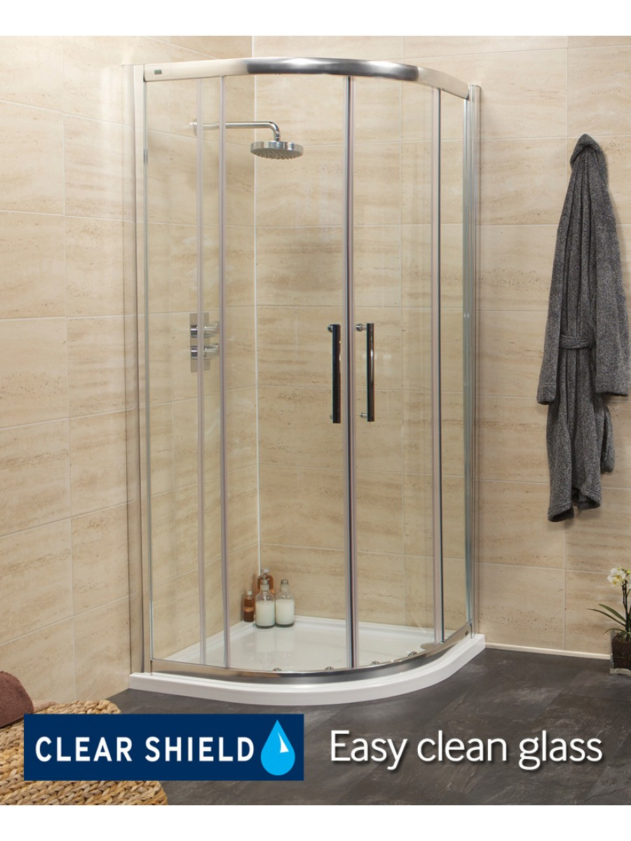 Rival 8mm 900 Quadrant Two Door Shower Enclosure 850 880 Mm