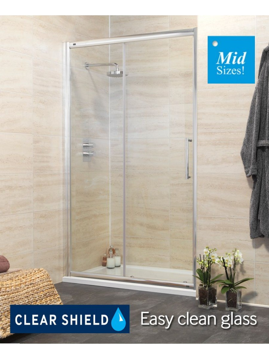 Rival 8mm 1050 Sliding Shower Door - Adjustment 990-1050 mm