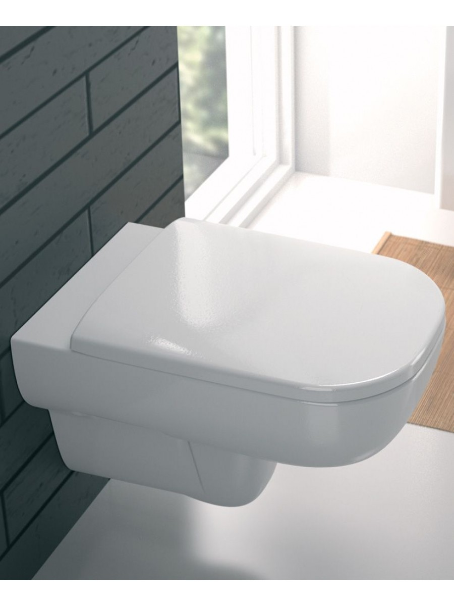 Twyford E500 Square Rimfree® Wall Hung Toilet with Seat