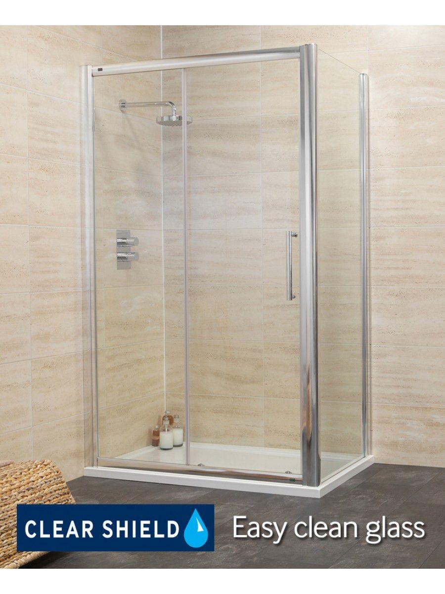Rival 8mm 1500 x 800 sliding shower door for 1500 sliding shower door
