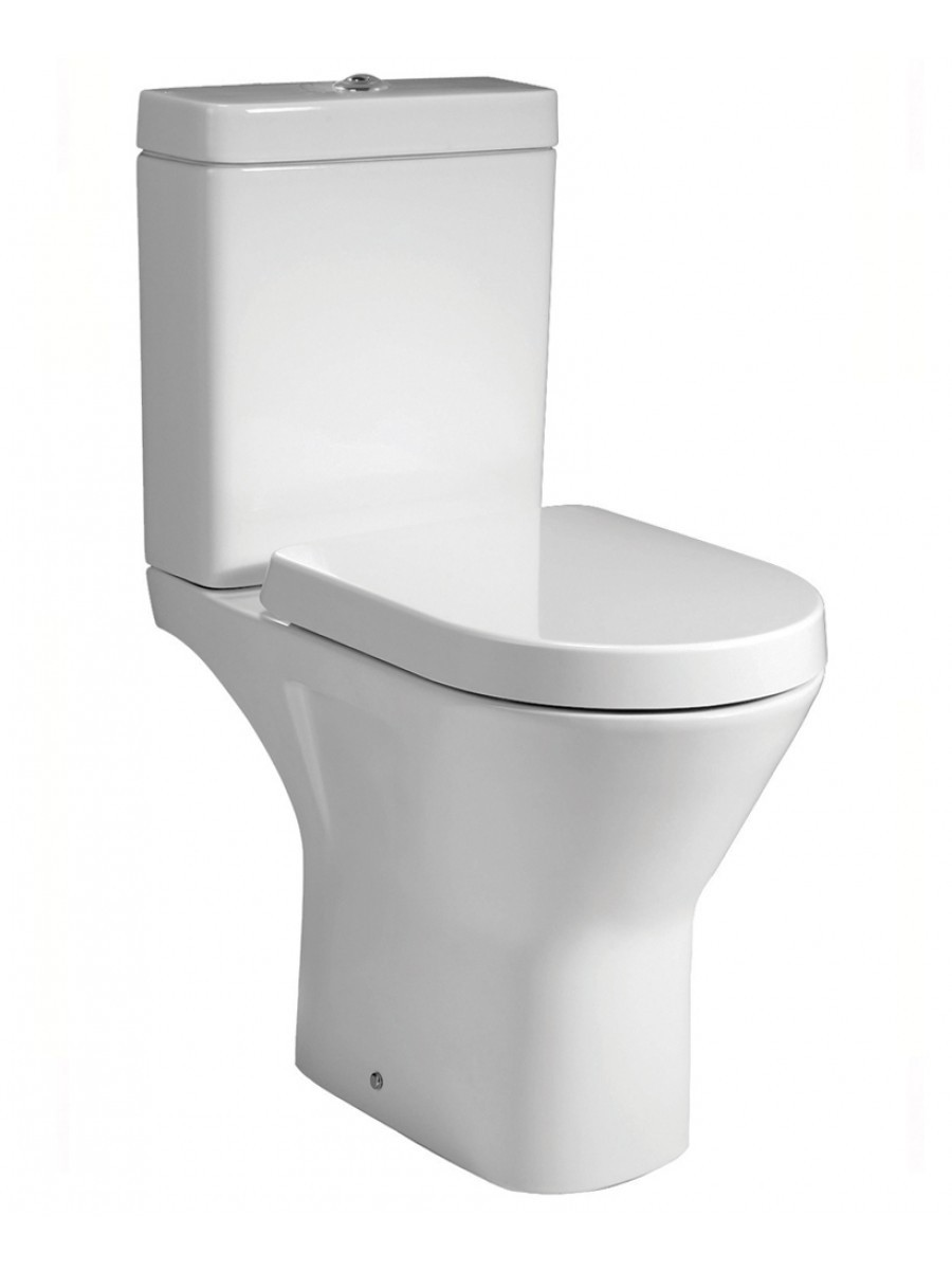 RAK Resort Comfort Height Close Coupled RIMLESS Toilet & Soft Close Seat