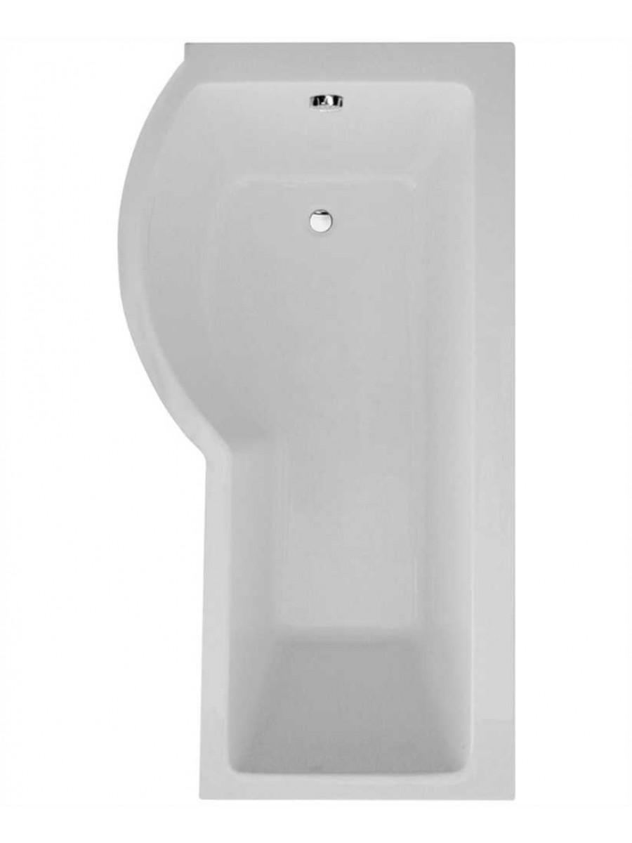 P Shape 1700 x 900 Left Hand Shower Bath with Bath Panel & Bath Screen